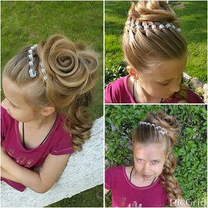 Как красиво уложить ребенку волосы