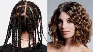 Способ накрутить волосы на косички