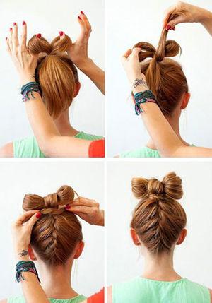 Как причесать волосы в бант