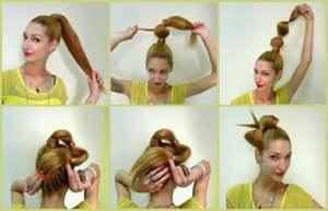 Как самим делать бантик из волос