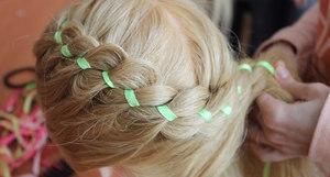 Как сплести косу вокруг головы
