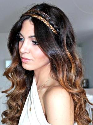 Прическа для длинных волос в греческом стиле
