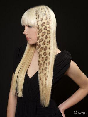 Рисунок картинки на волосах